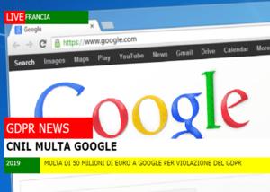 Multa di 50 milioni di euro a Google