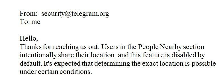 Telegram può rivelare il tuo indirizzo