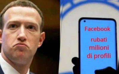 Facebook rubati milioni di profili